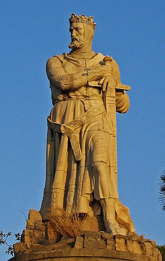 Alfonso the Battler - Statue of Alfonso in the Parque Grande José Antonio Labordeta, Zaragoza