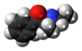 Ethcathinone molecule spacefill.png