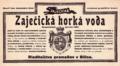 Etiketa Zaječická hořká Slovensky 1899.png