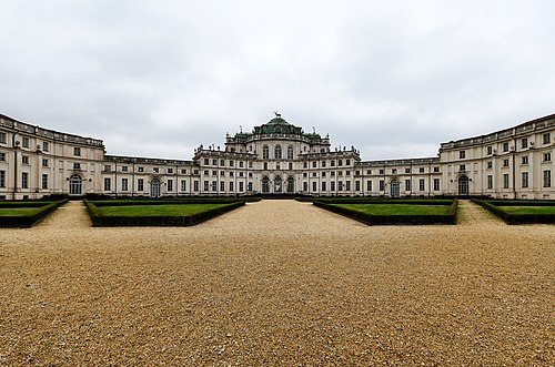 The Palazzina di caccia of Stupinigi, in Nichelino, is a UNESCO World Heritage Site. Exterior of the Palazzina di caccia of Stupinigi.jpg
