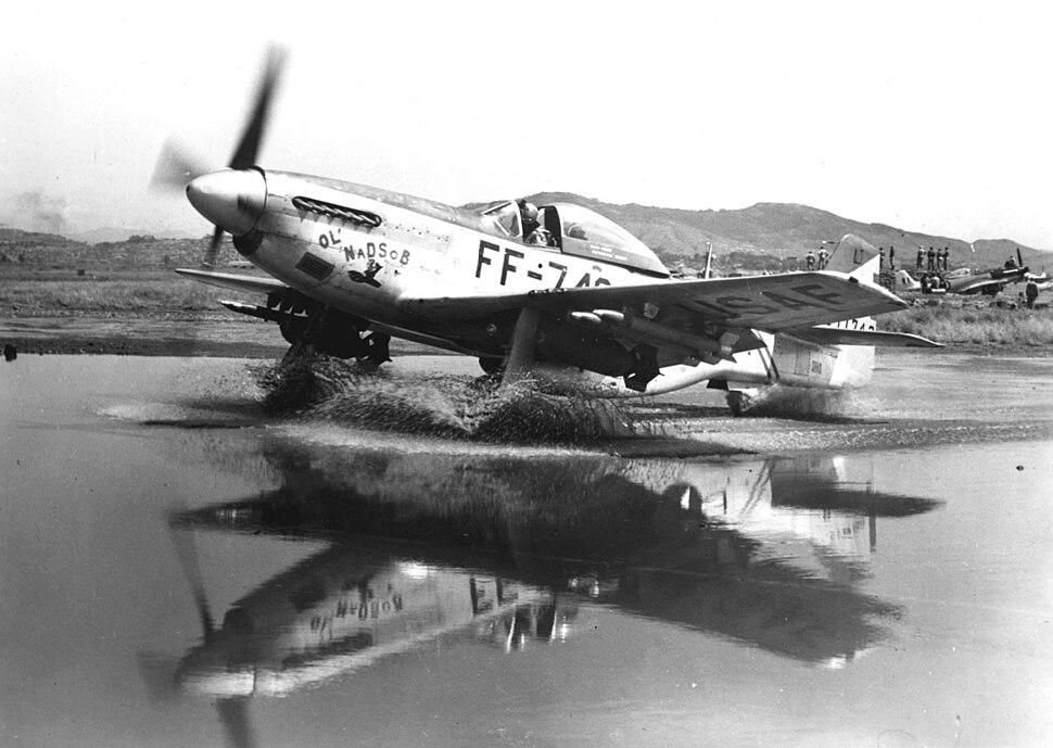 F-51 in Puddle, Korean War