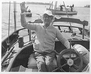 Marion, Massachusetts - President Franklin D. Roosevelt sailing in Marion, 1933.