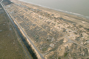 Hurricane Rita - Holly Beach was almost completely leveled by Rita's storm surge