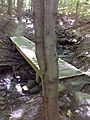FLT CT07 3.1 mi - Puncheon, 16' long with rock ramps, with 4 vertical posts, same construction as preceding - panoramio.jpg