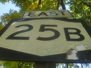 New York State Route 25B - Fading NY 25B shield in Queens