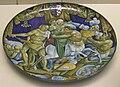 Faenza, piatto con lotta di lapiti e cenrtauri, stemmi guicciardini e salviati, 1525.JPG