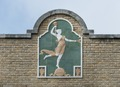 Fanciful facade decoration on a downtown building, Uvalde, Texas LCCN2014630340.tif