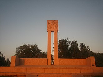 Goliad Campaign - The Fannin Monument commemorates the massacre by Mexico of 342 Texians promised safe passage upon surrendering.