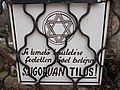 Farkasréti Jewish cemetery. 'Entry without cap strictly forbidden'. - Budapest.JPG