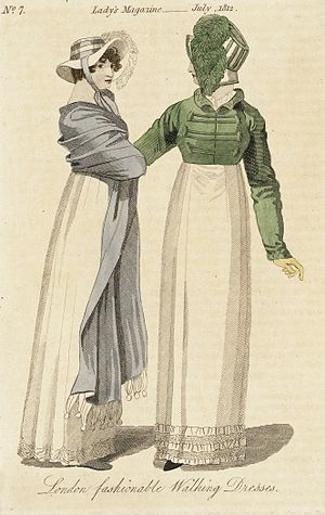 Spencer (clothing) - Image: Fashion Plate (London Fashionable Walking Dresses) LACMA M.86.266.104