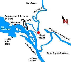 Fort-Coulonge - Historic locations of Fort Coulonge.