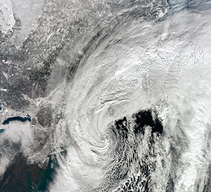 Early February 2013 North American blizzard - Image: February 2013 nor'easter 9 Feb 2013 1717z