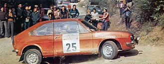 Group 1 (racing) - The Alfasud TI Group 1 of Alfa Romeo at the 1974 Rallye Sanremo