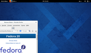 Fedora 20 GNOME Shell Desktop