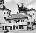 Fellegvár a középső várból (Rákóczi tér) nézve. (Munkachevo, Ukraine). Fortepan 6111.jpg