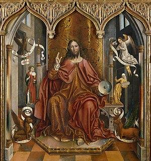 Fernando Gallego - Fernando Gallego, Blessing Christ, Museo del Prado
