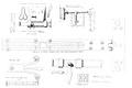 Fig 151, castello di Fenis, disegni di serrature, da disegni d andrade, disegno Nigra.tiff