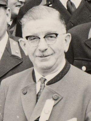 Leopold Figl - Figl as Lower Austrian governor, about 1962