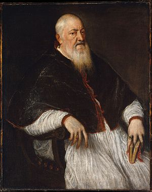 Filippo Archinto - Titian, Portrait of Cardinal Filippo Archinto (mid-1550s), Metropolitan Museum of Art, New York