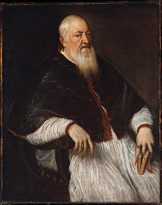 Filippo Archinto - Titian, Portrait of Cardinal Filippo Archinto (mid-1550s), Metropolitan Museum of Art, New York