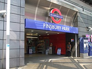 Finsbury Park tube stn entrance Station Place.JPG