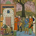 Firdawsi - Kay Kavus Receives Kay Khusraw on his Arrival from Turan - Walters W602158B - Full Page-cropped.jpg