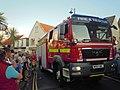 Fire engine, Sheringham carnival parade, Wyndham Street, Sheringham 2014-08-06.JPG
