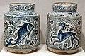 Firenze, due albarelli da spezieria, 1400-1410 ca..JPG