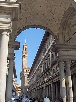 the Uffizi and Palazzo Vecchio