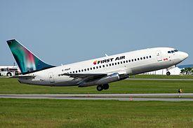 First Air, Boeing 737-200, C-FACP (19133528645).jpg