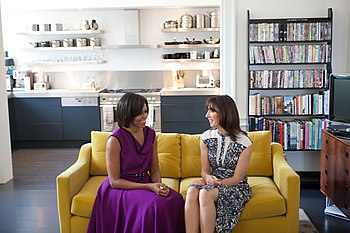 First Lady Michelle Obama and Samantha Cameron...