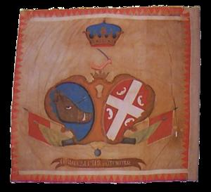 Stefan Gavrilović - Image: First Serbian Uprising regular army flag
