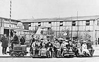 First electric locomotive, built in 1879 by Werner von Siemens.jpg