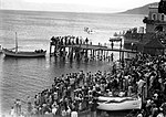 First sea plane to alight on the Lake of Galilee. October 1931. Matson.jpg