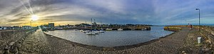 Fisherrow - Image: Fisherrow Harbour panorama