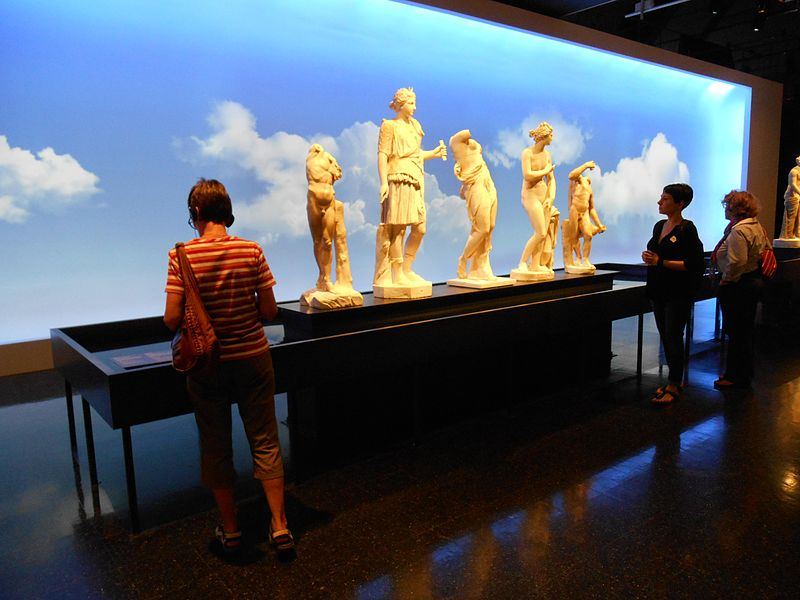 File:Five tabletop statues at the Musée de la civilisation (angled view).jpg