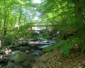 Englewood, New Jersey - The 150-acre Flat Rock Brook nature preserve is located in Englewood.
