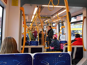 Flexity 2 (Blackpool) - Image: Flexity 2 tram interior