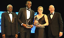 Flickr - Doha Stadium Plus - Lamine Diack, Usain Bolt, Sally Pearson and Prince Albert.jpg