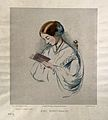 Florence Nightingale. Coloured lithograph by R. J. Lane, 1854 Wellcome V0004308.jpg