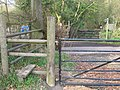 Footpath crosses St Clere Hill Road - geograph.org.uk - 1256365.jpg