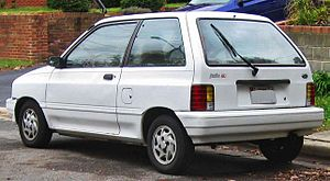 Ford Festiva - Facelift Ford Festiva GL 3-door (US; MY 1992–1993)