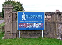 Foremarke Hall (Repton Preparatory School) sign - geograph.org.uk - 1176940.jpg