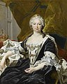 Formal painting of Queen Isabel in circa 1740 by Louis Michel van Loo.jpg
