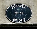 Forster Bridge nameplate, near Wolverhampton - geograph.org.uk - 1345709.jpg