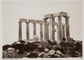 Fotografi av tempelruin i Kap Sunion - Hallwylska museet - 103078.tif