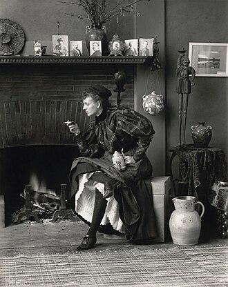 "New Woman - Frances Benjamin Johnston's Self-Portrait (as ""New Woman""), 1896."