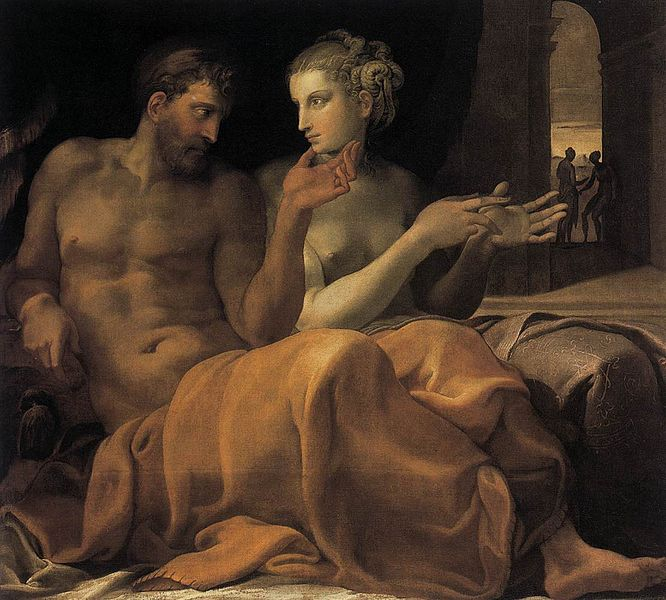 File:Francesco Primaticcio - Ulysses and Penelope - WGA18409.jpg