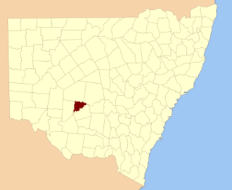 Franklin County, New South Wales - Location in New South Wales