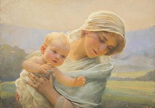 František Dvořák - Mother with a Child